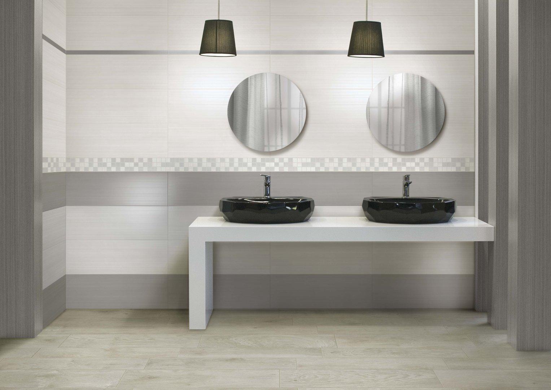 Bagni grigi e bianchi design casa creativa e mobili for Piastrelle bagno mosaico grigio