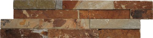 Naturstein Brickstone Rock Multicolor 15x60 cm