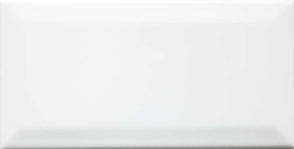 Metro Wandfliesen mit Facette Weiss Gl/änzend 10x20cm