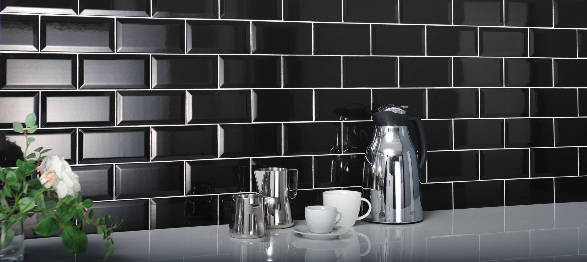 Grey Brick Tiles Kitchen