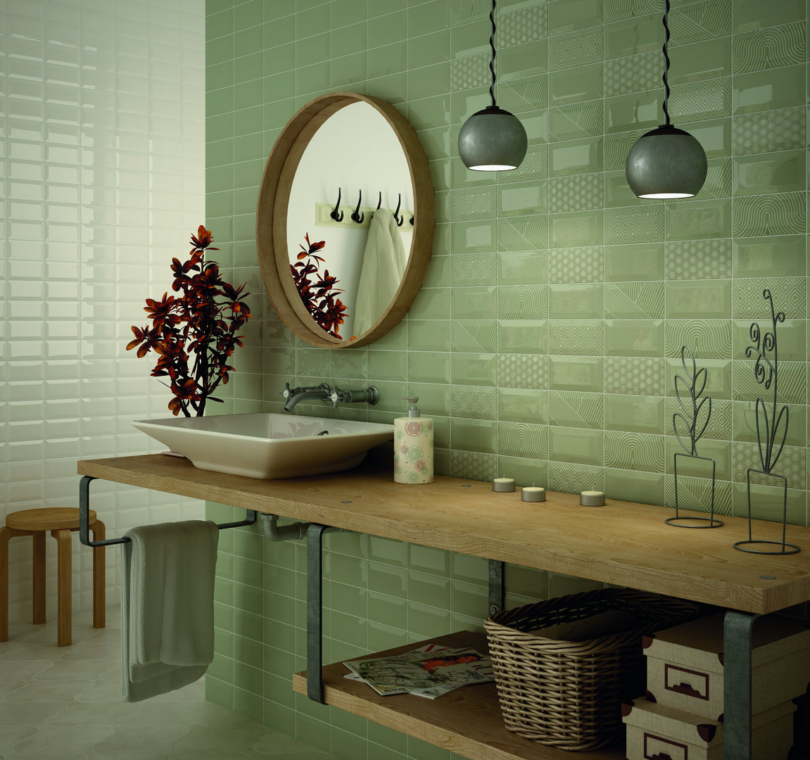 wandfliese equipe metro olive gl nzend 7 5x15 cm online. Black Bedroom Furniture Sets. Home Design Ideas