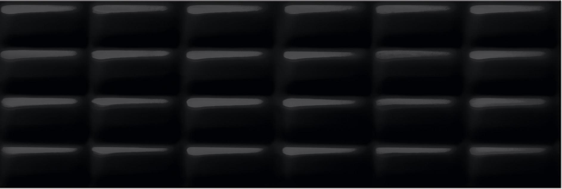 Musterfliese Meissen Magic Pillow Schwarz Glänzend X Cm - Bodenfliesen schwarz glanz