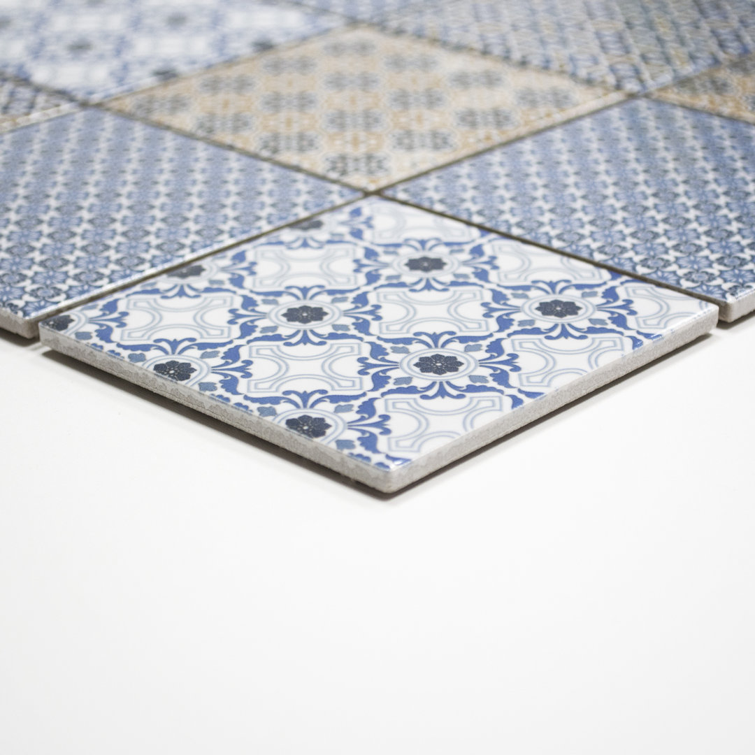Mosaiktafel homestile quadrat classico mix 30x30 cm online for Zirconio tegels
