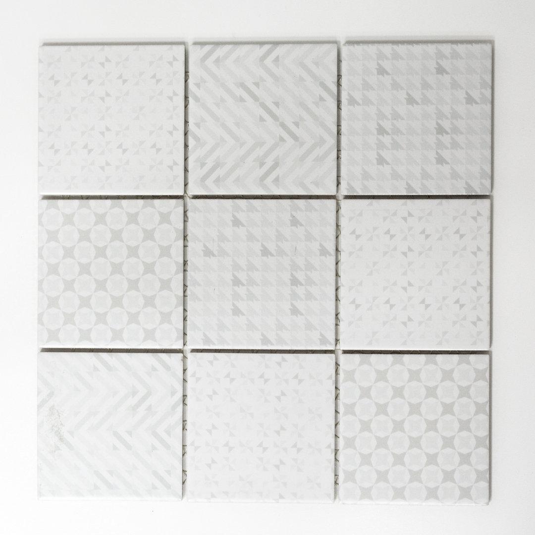 Mosaiktafel homestile quadrat geo white 30x30 cm online kaufen for Zirconio tegels