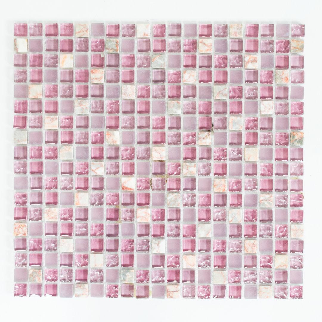 Mosaiktafel homestile crystal stein mix rosa 32x30cm hier for Zirconio tegels