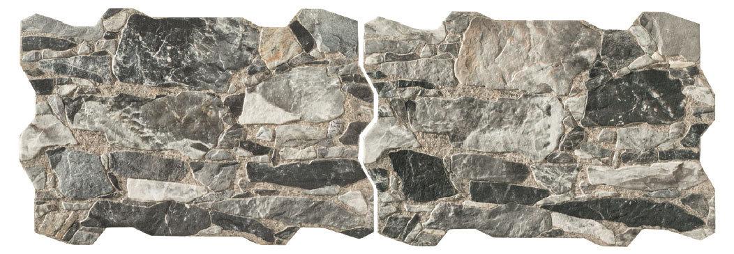 Wandfliese homestile brick wall rock grigio 40 x60 cm kaufen for Zirconio tegels