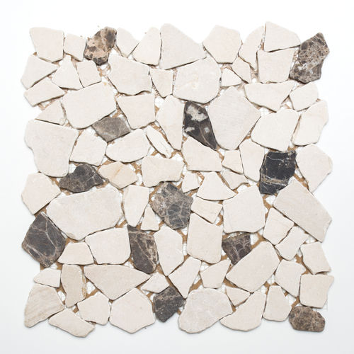 Mosaiktafel Homestile Bruch/Ciot mix CastanaoCream 30x30 cm