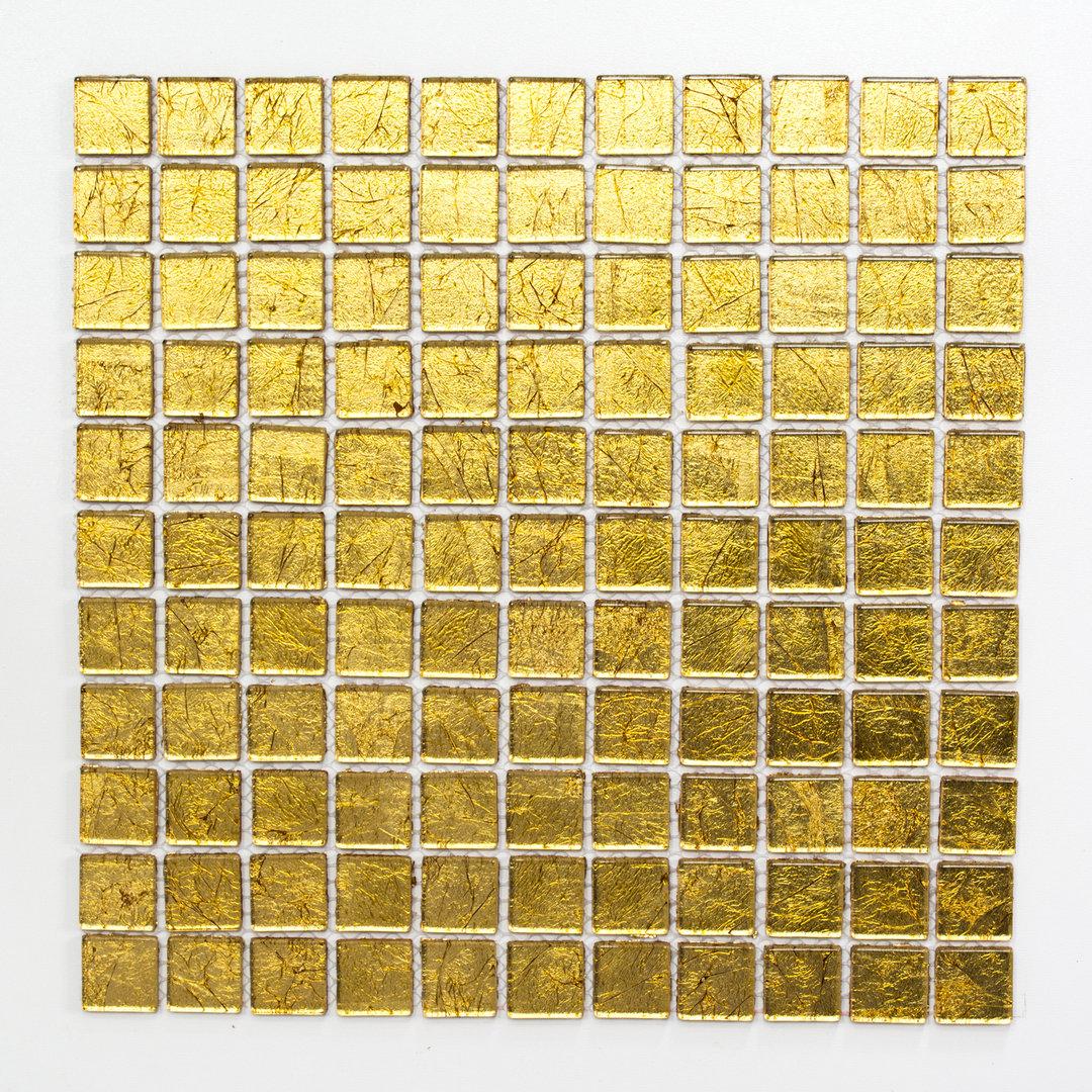 Mosaiktafel homestile quadrat crystal uni gold 30x30cm kaufen for Zirconio tegels