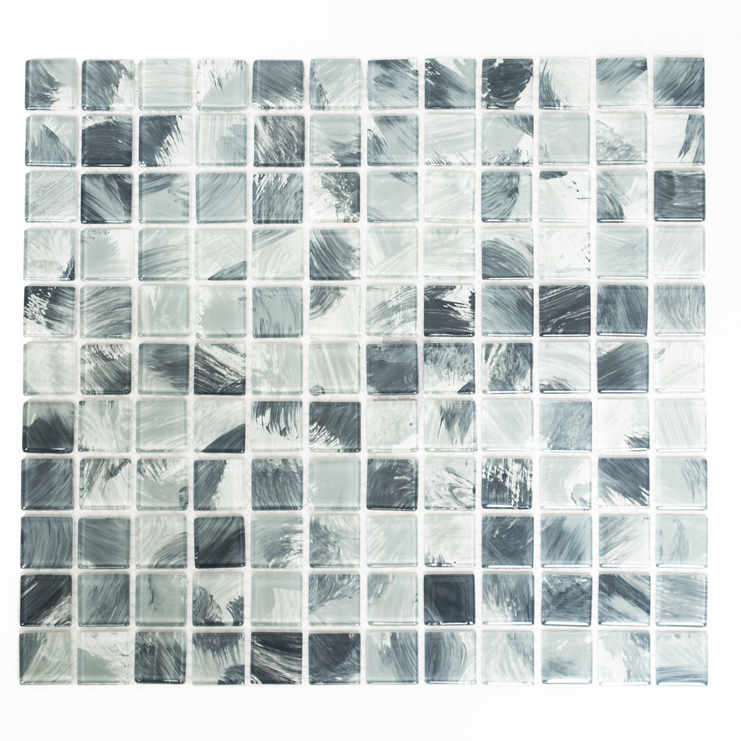 Mosaiktafel homestil quadrat crystal wischgrau 32x30 cm for Zirconio tegels