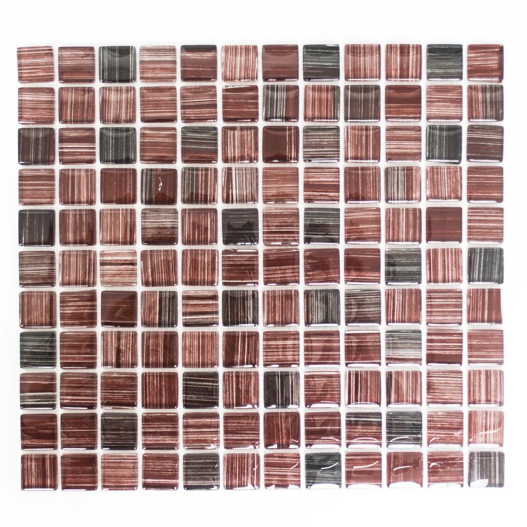 Mosaiktafel homestil quadrat crystal strichbraun 32x30 cm for Zirconio tegels
