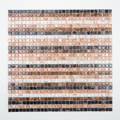 Mosaiktafel Homestile Quadrat stripe mix 32x30 cm