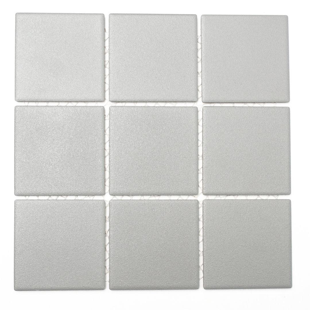 Mosaiktafel homestile quadrat uni steingrau r10b 30x30 cm for Zirconio tegels