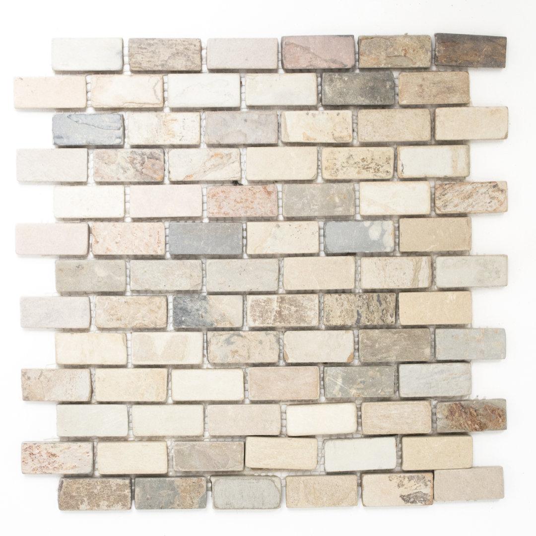 Mosaiktafel homestile brick indian autumn 31x32 cm kaufen for Zirconio tegels