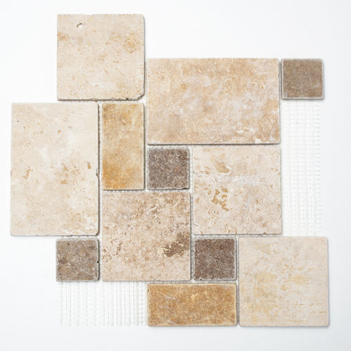 Mosaiktafel Homestile Mini Pattern mix Travertine